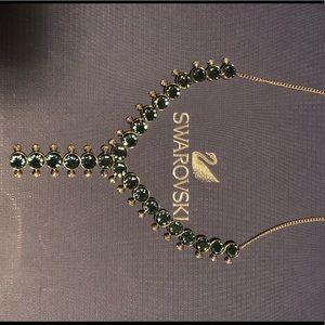 Swarovski blue crystal necklace